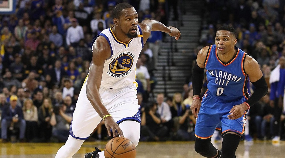 Warriors' Kevin Durant probable for game vs. Thunder