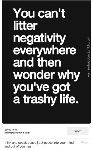 litter negativity