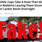 police take knee abandon washington redskins game fake news 2017 images
