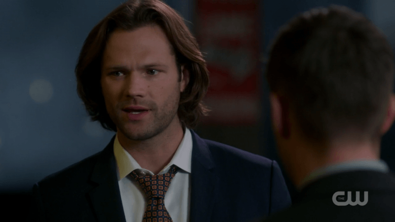 sam winchester in suit with dean supernatural 1305