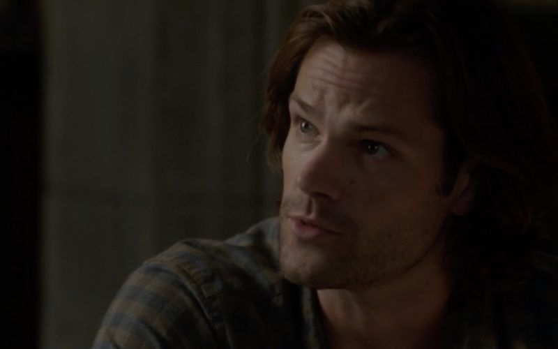 sam winchester mournful look at jack calvert supernatural