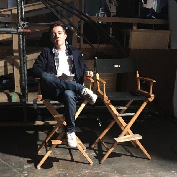 seth isaac johnson sitting in director on supernatural setseth isaac johnson sitting in director on supernatural set