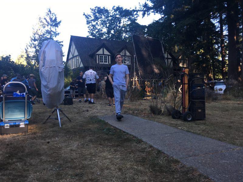 seth isaac johnson walking down supernaturla outside set