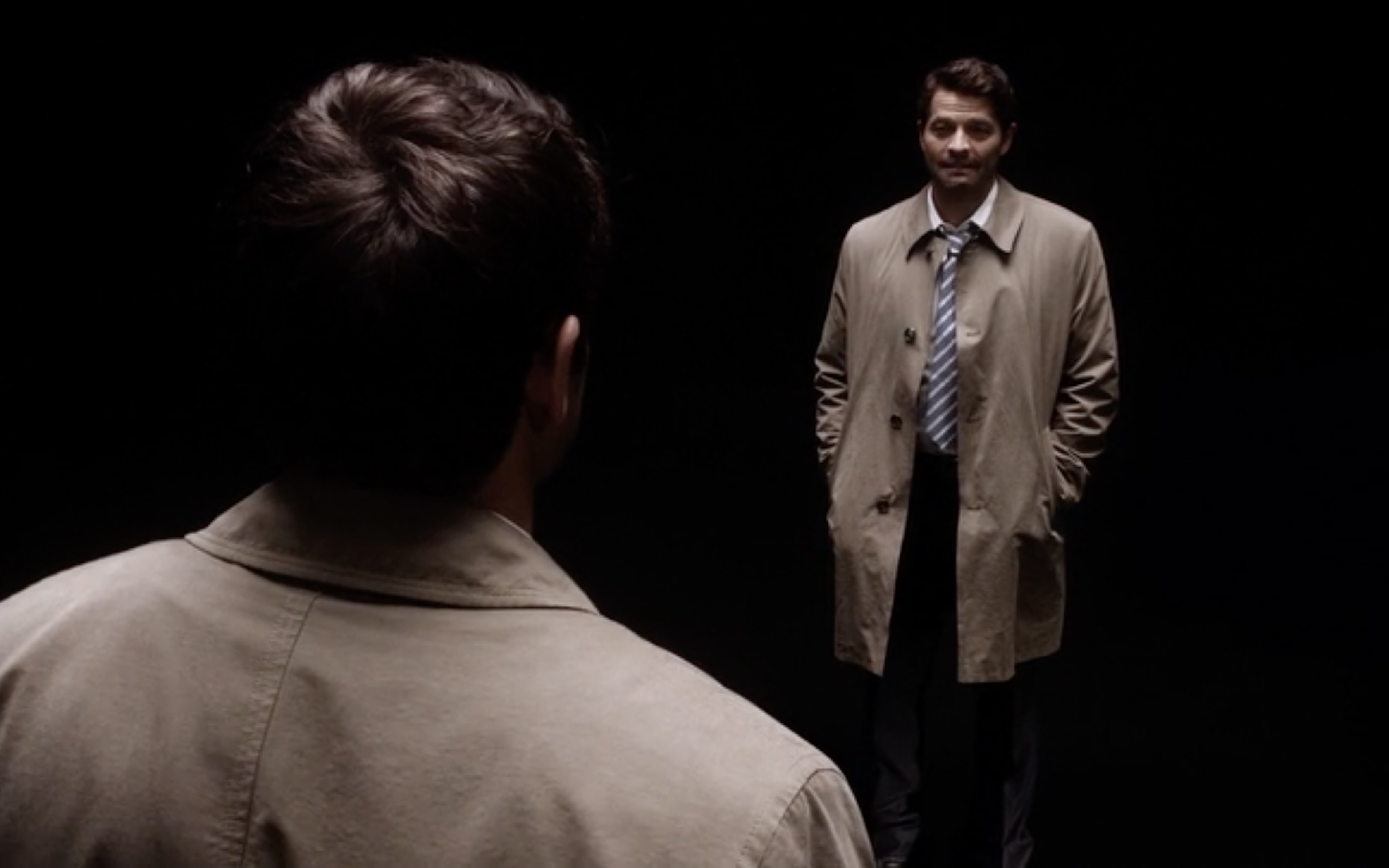supernatural misha collins castiel being called by jack on big empty
