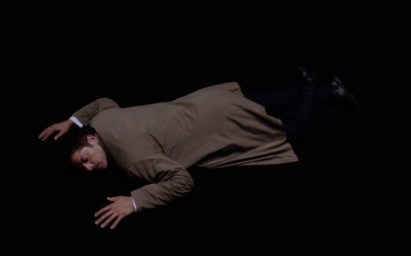 supernatural castiel misha collins laying on floor