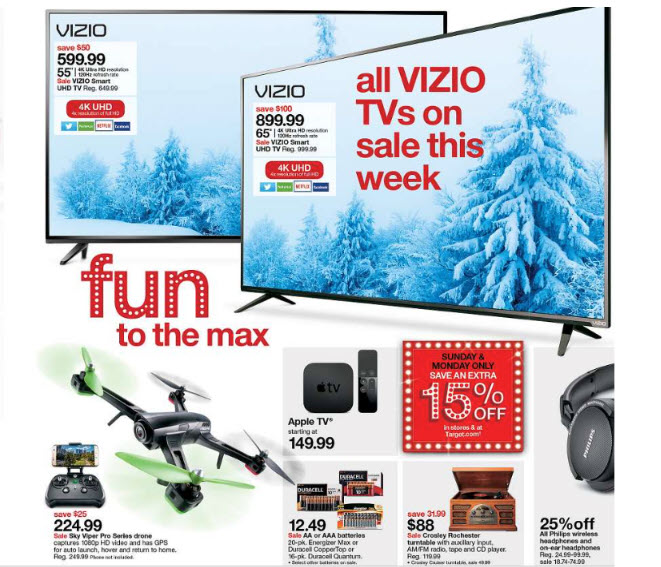 target hot cyber monday 4k tv deals