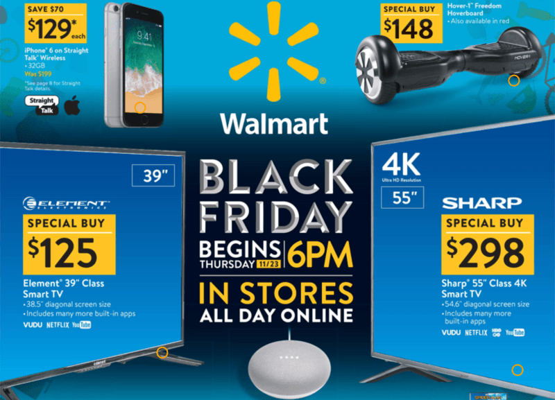 walmart black friday hot holiday sales 2017 cyber monday gifts