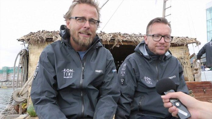 Joachim Rønning & Espen Sandberg on kon tiki movie set