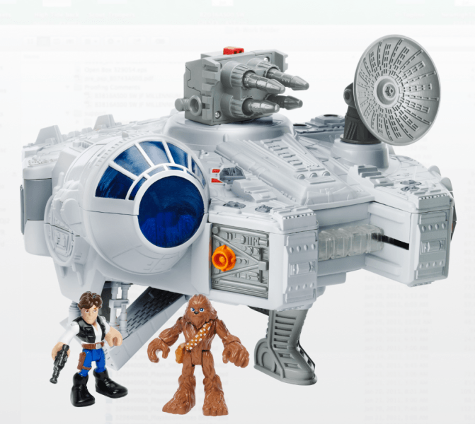 Playskool Heroes Star Wars Galactic Heroes Millennium Falcon and Figures hot geek toys 2017 holiday