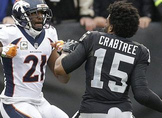 aqib talib michael crabtree punches continue off nfl field 2017 images