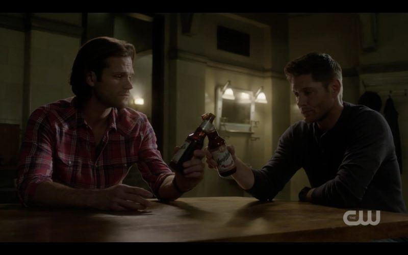 dean sam winchester clink beer bottles supernatural 1308 happy