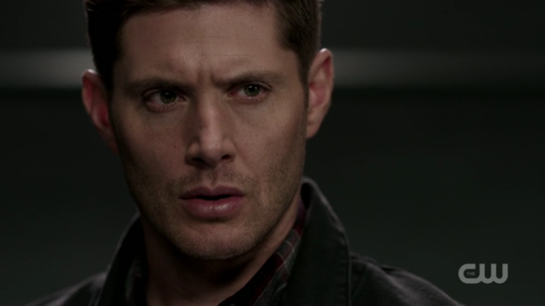 dean winchester intense lisa berry stare on supernatural mttg interview