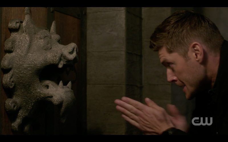 dean winchester ready to fist supernatural pig statue 1308