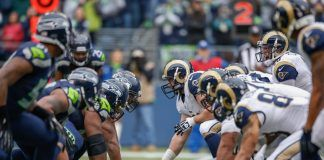 los angeles rams vs seattle seahawks for nfc west control 2017 images