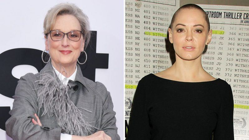meryl streep defends against rose mcgowan