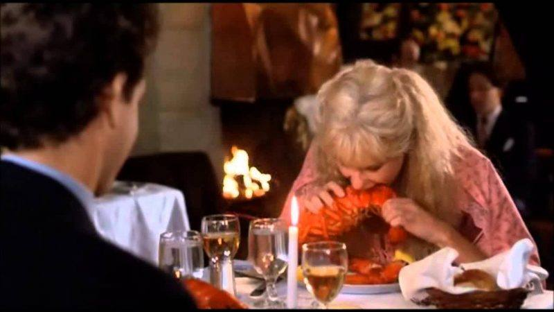 splash movie daryl hannah lobster eating scene