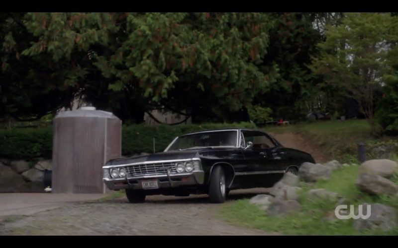 supernatural impala baby driving through cemetary 1308