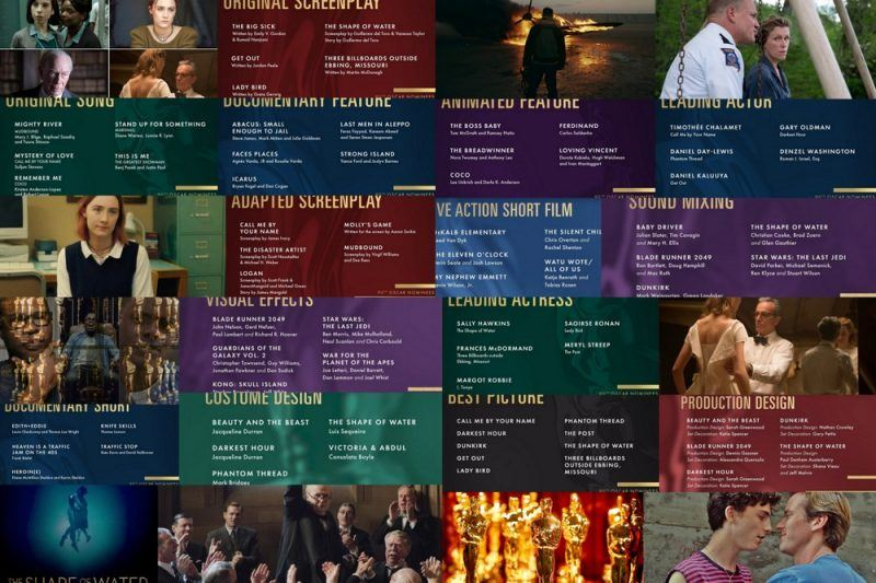 2018 oscar nominations images