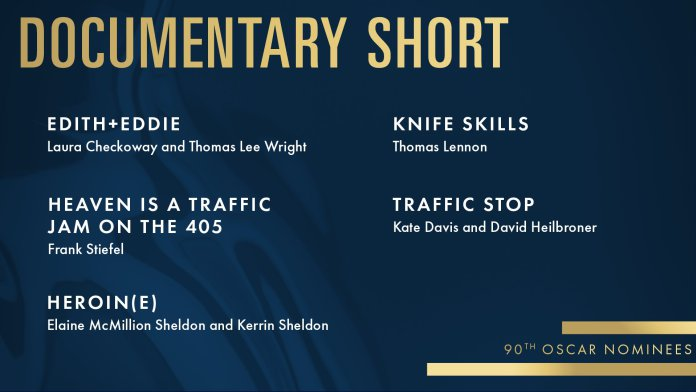 2018 oscars academy awards documentary short nomination