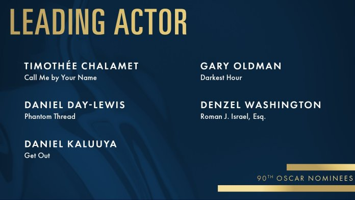 2018 oscars academy awards leading-actor