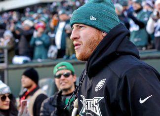 Carson Wentz okay being Philadelphia Eagles cheerleader for Super Bowl 2018 images