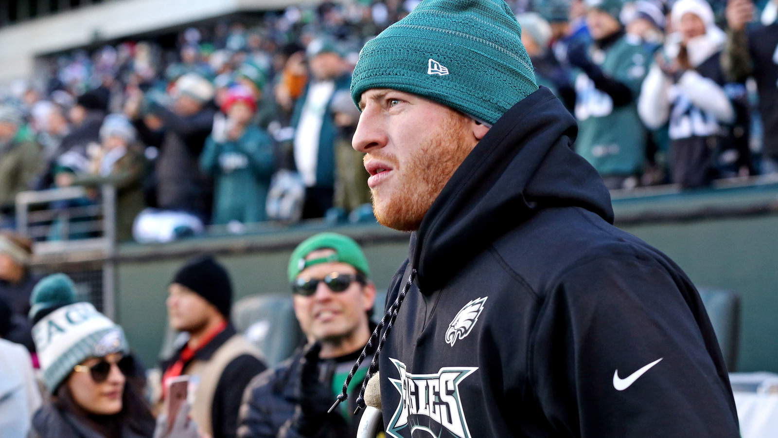 Carson Wentz okay being Philadelphia Eagles cheerleader for Super Bowl 2018 images