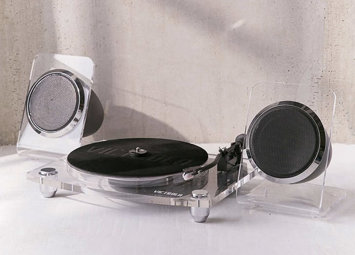 acrylic turntable record player with speakers hot tech toys