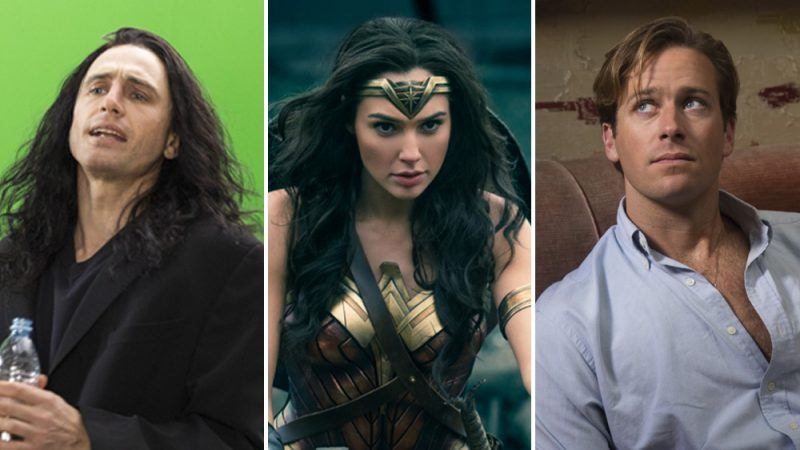 biggest oscar snubs, james franco armie hammer and gal gadot wonder woman