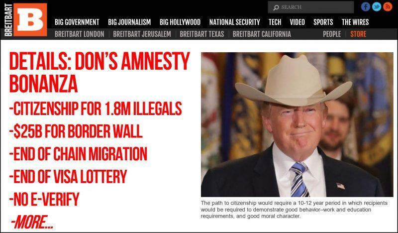 breitbart attacks donald trumps new immigration plan daca