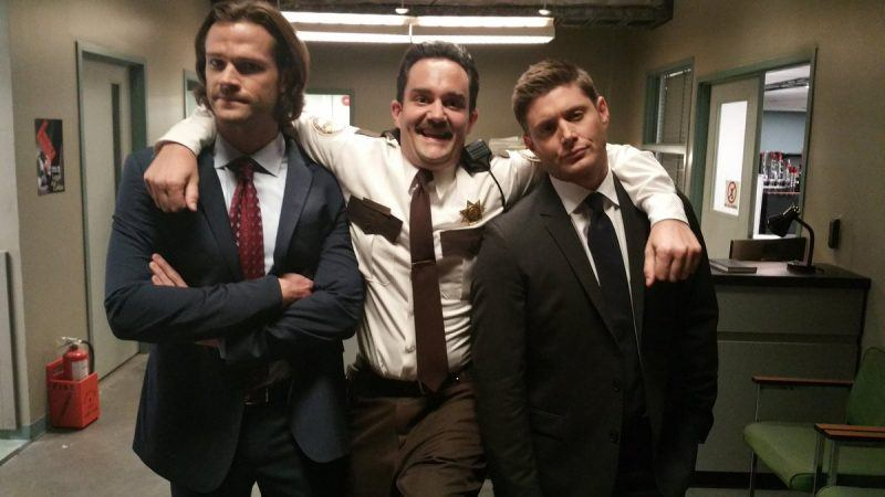 brendan taylor with supernatural jensen ackles and jared padalecki mttg interview