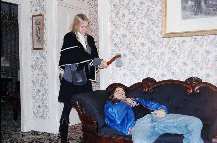 chloe sevigny with director of lizzie borden movie