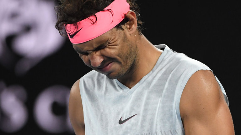 rafael nadal out for two week with inner hip injury australian open 2018