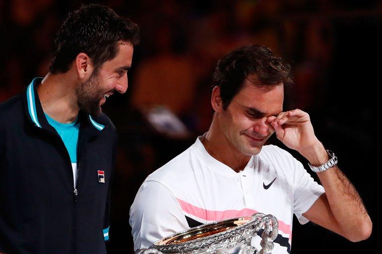 roger federer emotional winning australian open with marin cilic