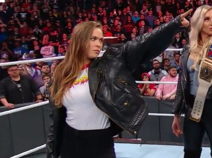 ronda rousey crashes royal rumble going to wwe full time
