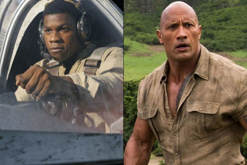 star wars last jedi holds jumanji in second place new years weekend