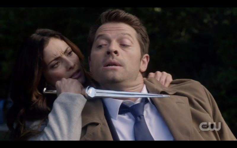 supernatural castiel knife to throat from asmodeus misha collins