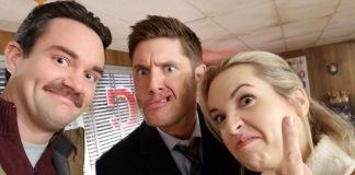 supernaturals brendan taylor on briana buckmaster jared padalecki and jensen ackles 2018 images
