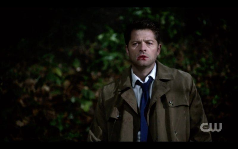 castiel staggers in woods supernatural 1313 devils bargain