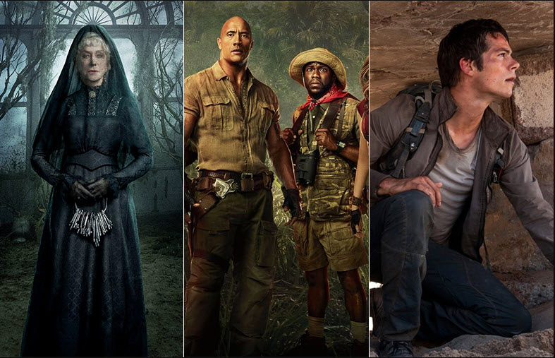 jumanji maze runner winchester top box office weekend charts 2018
