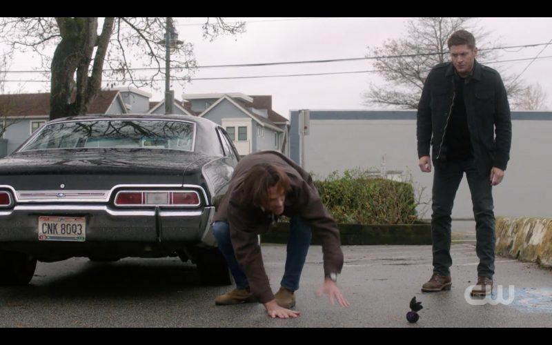 sam winchester bends over baby car for dean supernatural 1312