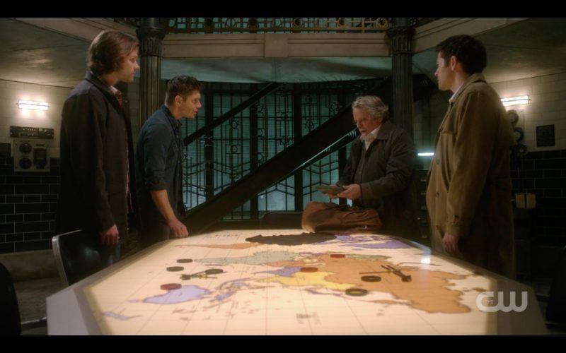 supernatural 1313 devils bargain sam dean winchester with castiel map