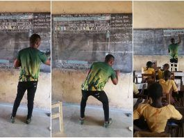 Richard Appiah Akoto proves the chalk and blackboard is still a thing 2018 images