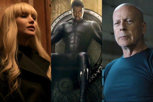 black panther trounces red sparrow and death wish at box office
