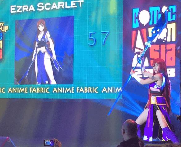 ezra scarlet at comic con asia 2018