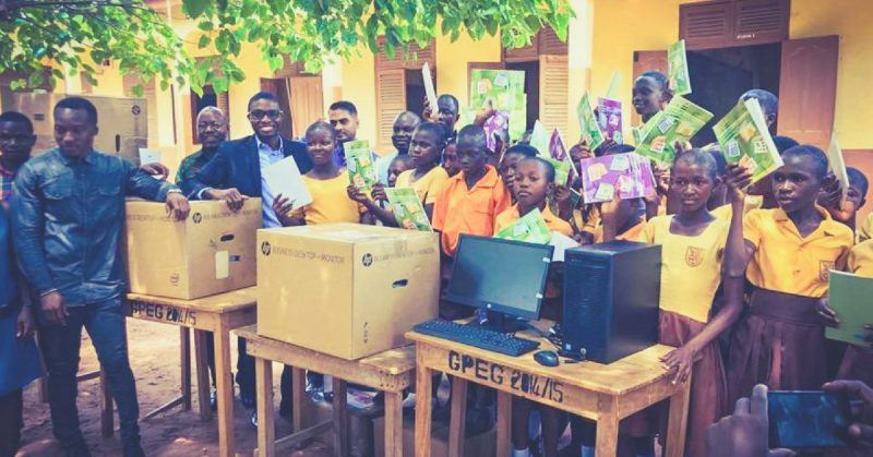 indian firm gives computers to ghana students tech