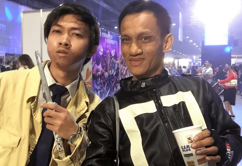 marius mttg at comiccon asia 2018 with supernatural castiel
