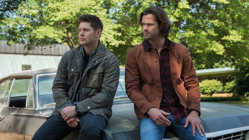 sam and dean winchester sitting on babys face lost found