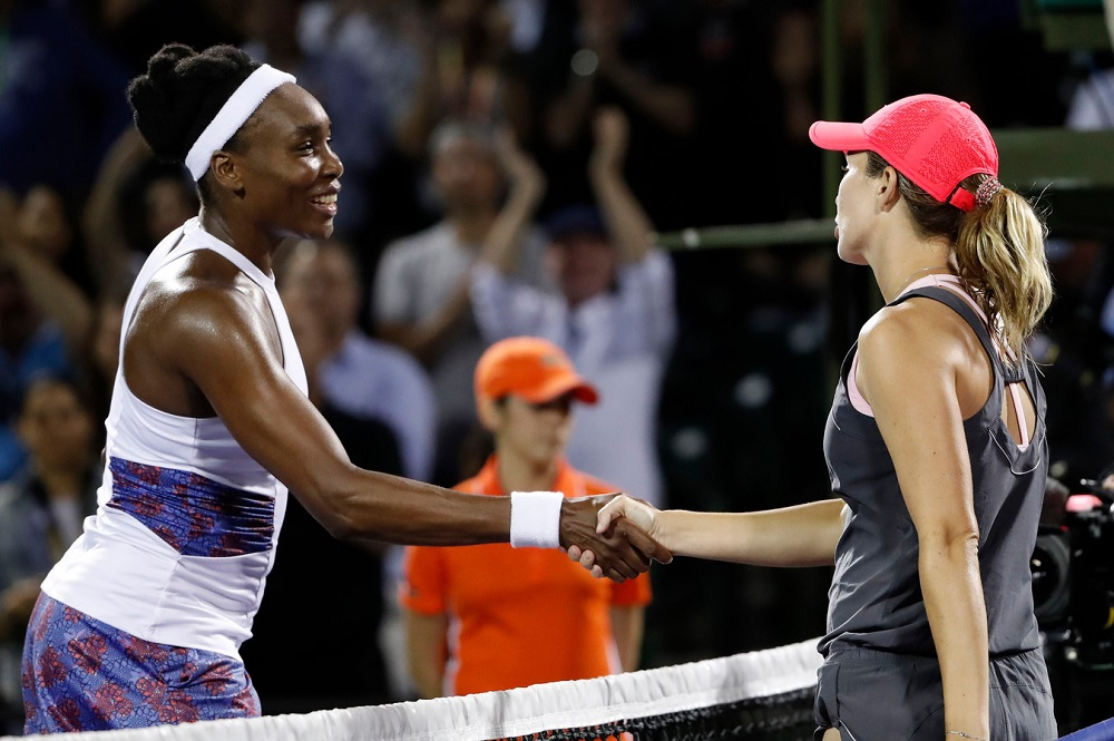 venus williams out of miami open loses to danielle collins 2018 images