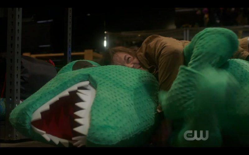 Supernatural dean winchester jensen ackles cuddling with green stuffed dinosaur