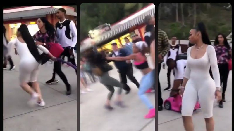 blac chyna amusement park six flaggs fight